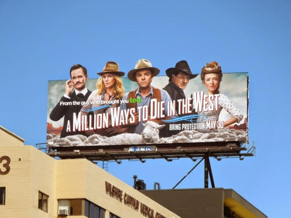 A Million Ways to Die in the West movie billboard