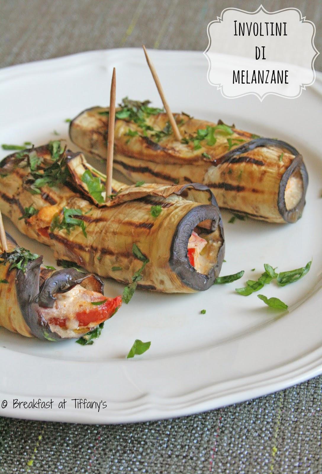 involtini di melanzane / aubergine rolls recipe
