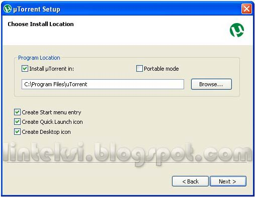 uTorrent Setup - Choose Install Location