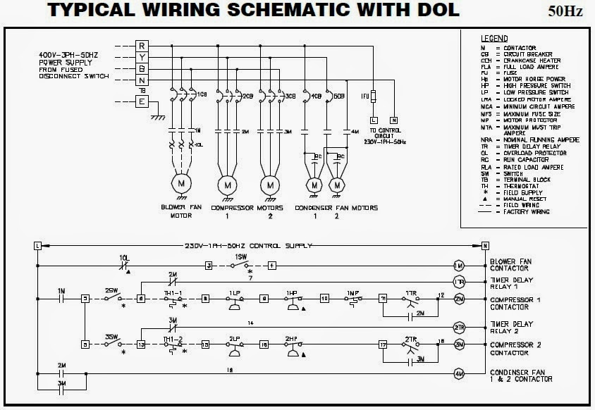 Electrical wiring diagrams for air conditioning systems part two fig27 electrical wiring of split packaged unit with different starting methods asfbconference2016 Images