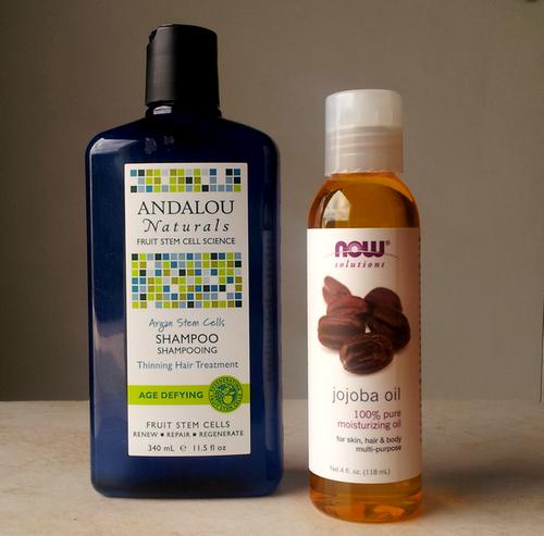 shampoo andalou Argan Stem Cells + jojoba now foods