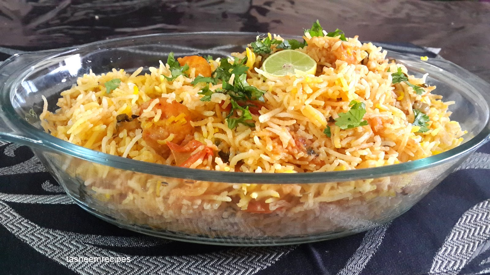 Cooking Made Easy: SPICY SHRIMP BIRYANI