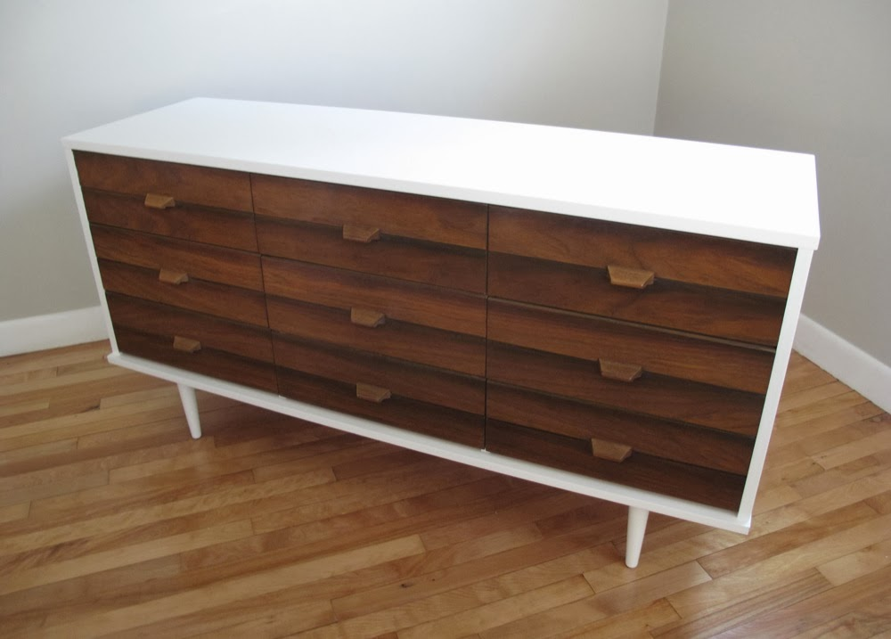 White Wood Mcm Dresser Sold