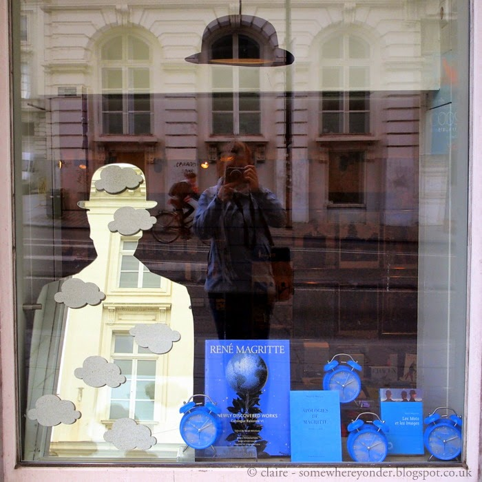 Me, my camera and a window display in Brussels, Belgium