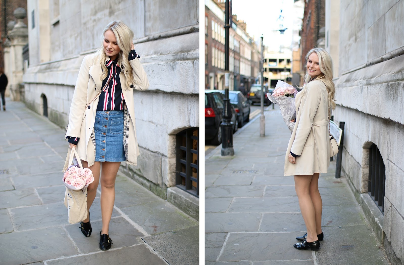 how to style a classic beige trench coat, how to add layers to an outfit