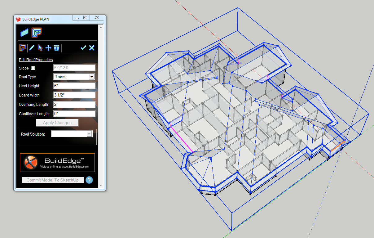 Modeling Sketchup Roofs On A Click With Build Edge Plan