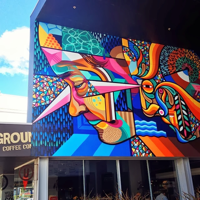 New Street Art Mural By Beastman And Vans The Omega On The Streets Of Christchurch in New Zealand. 3