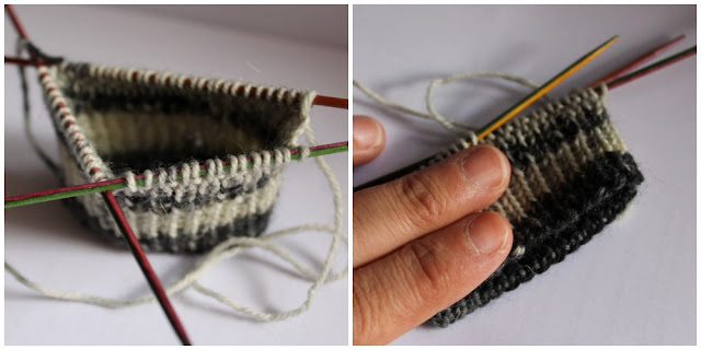 Siona 005 patr n de calcetines con 5 agujas gratis - Como hacer talon de calcetines de lana ...