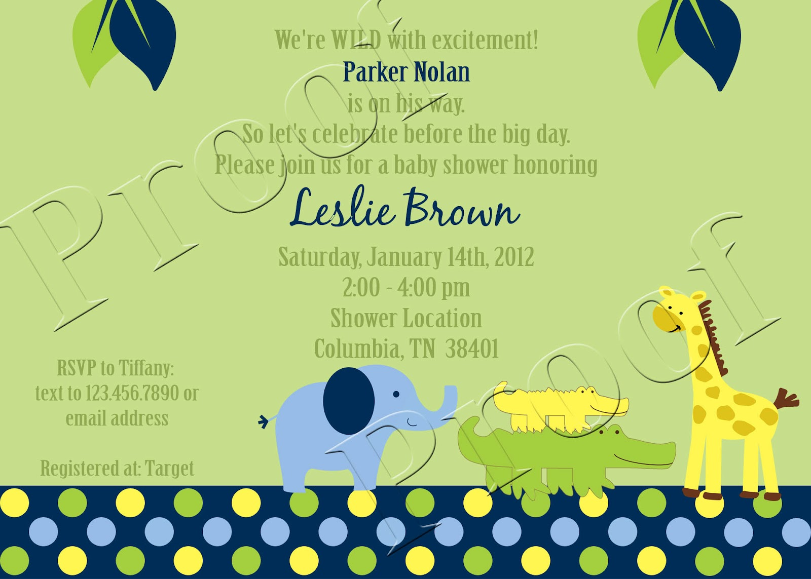 Safari Themed Invitations for good invitations ideas