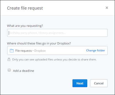 Dropbox Create File Request