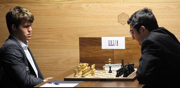 Ronde 2 - Levon Aronian bat Boris Gelfand © Anastasiya Karlovich