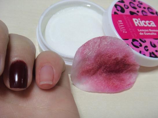 Resenha - Ricca - Lenços removedores de esmaltes