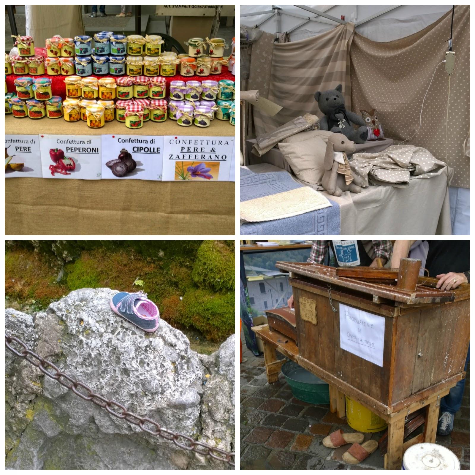 confettura, pelush, scarpa bambini, produzione di carta a mano