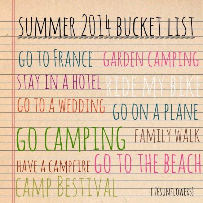 Summer 2014 Bucket List // 76sunflowers