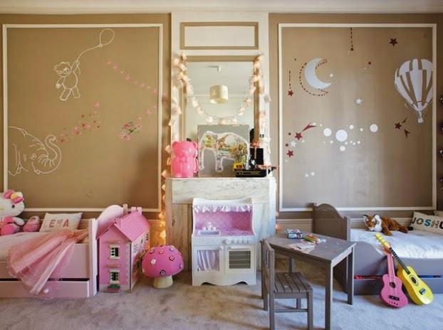 4121 غرف نوم اطفال فردية و زوجية للتوائم تصاميم سراير و حوائط و الوان غرف نوم للاطفال مودرن