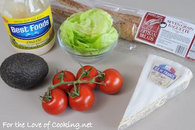 B,B,L,T,A Bites (Brie, Bacon, Lettuce, Tomato, and Avocado)