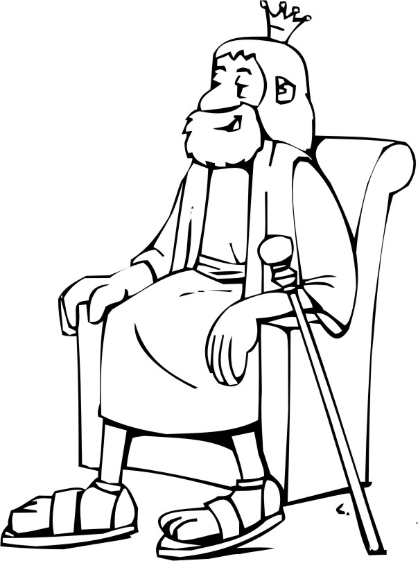 David becomes king coloring page for King david coloring pages free