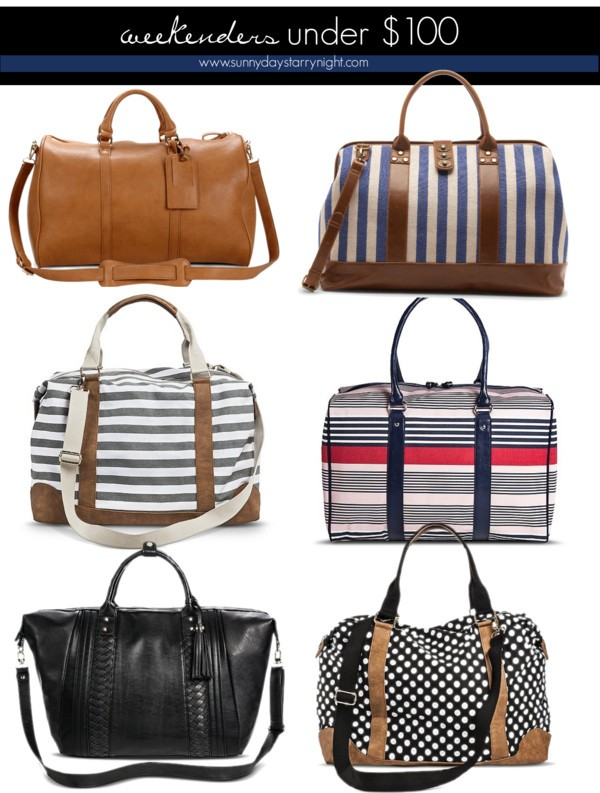 best weekender bags under $100
