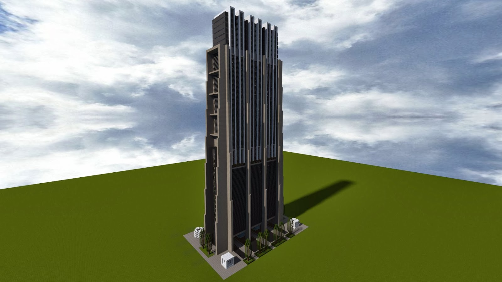 Seviat city oktober 2013 - Minecraft hochhaus ...