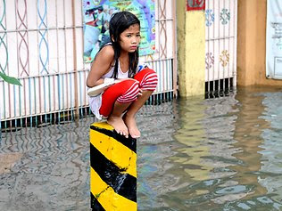 in the rising flood go to highre ground