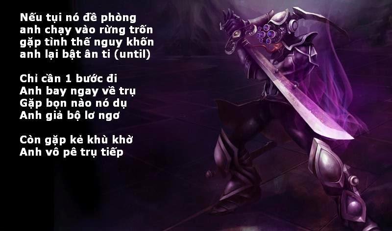 Ảnh Thơ chế hay về Master Yi LOL