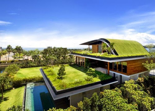 Design Unique House With Roof Garden Feng Shui
