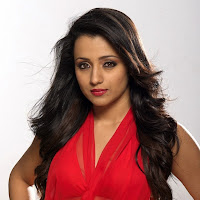 glamorous and sweet Trisha in red dress photoshoot