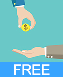 Hand Giving Money Free Vector