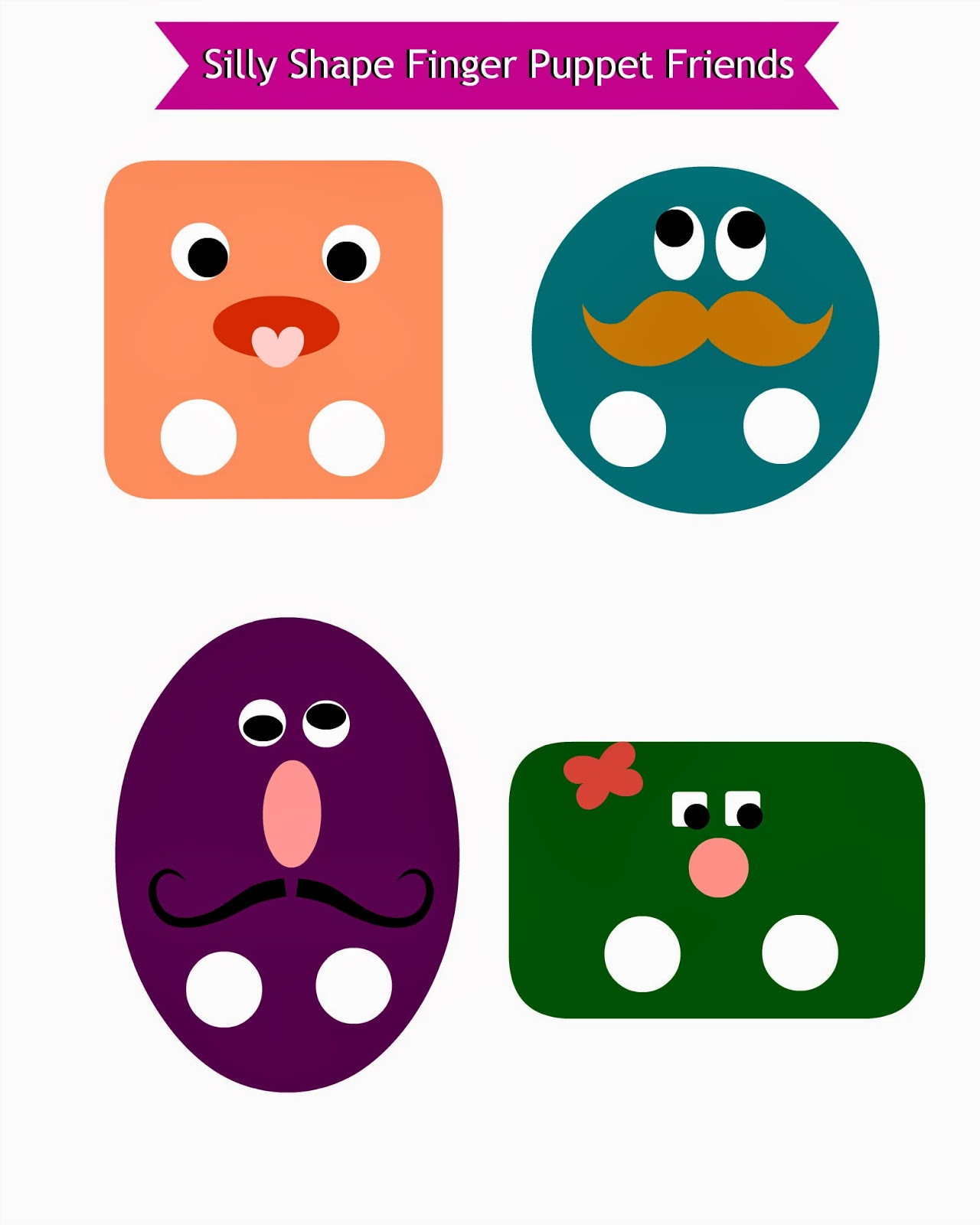 Free Silly Shape Friends Printable - perfect entertainment for you kids! Click through to get these!
