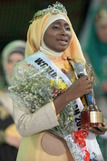 21-Year Old Unilag Student Wins Muslim World Beauty Pageant Aisha+2