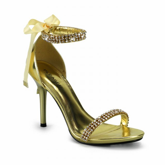 prom gold shoes