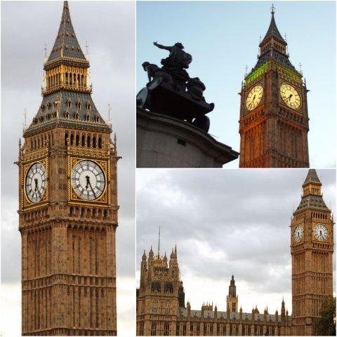 Palacio de Westminster (Casas del Parlamento con su Torre del Reloj Big Ben) en Londres