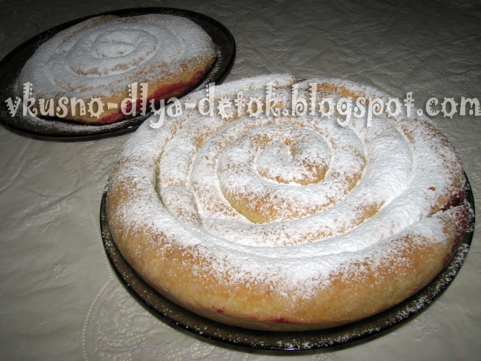Вишневый пирог улитка рецепт