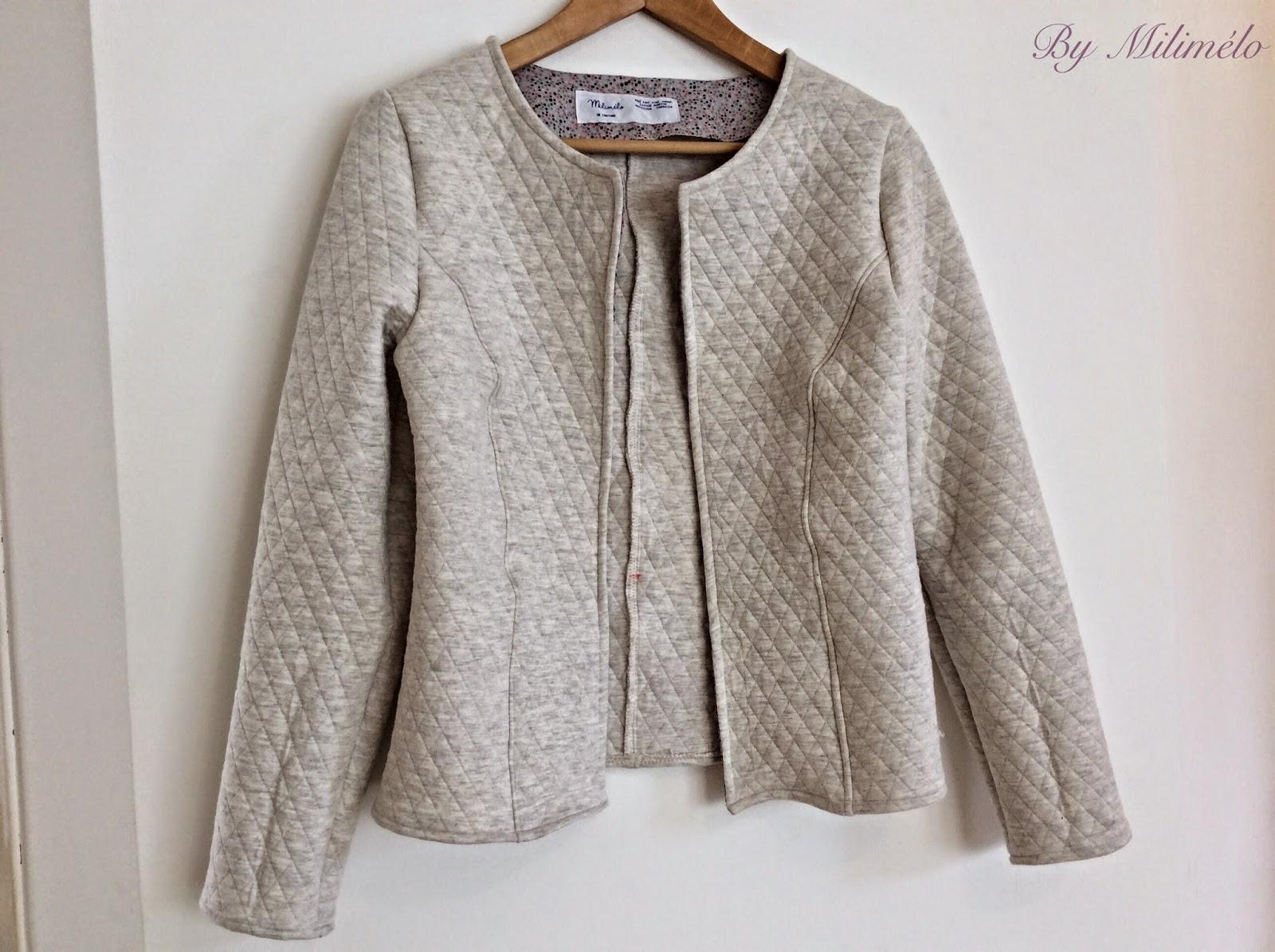 Connu Milimélo de couture: La veste Mona AV28