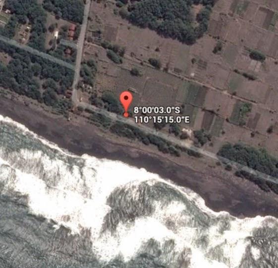 Koordinat Lokasi Pantai Pandansari / Patehan_siparjo.com