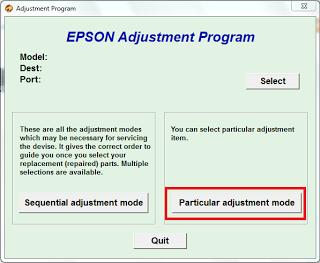particular adjustment mode