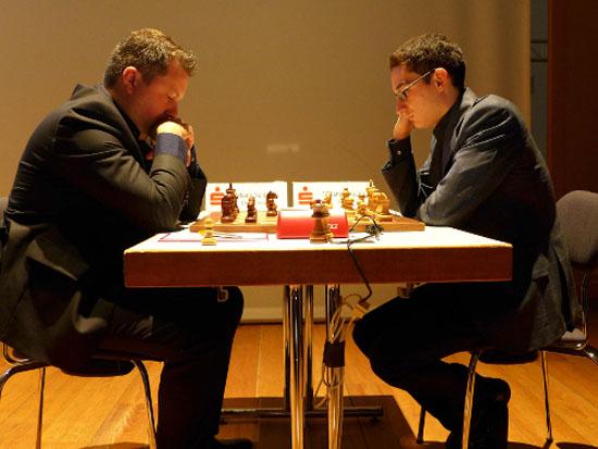 Caruana a joué une excellente partie hier, donnant une leçon de maîtrise à Naiditsch dans un milieu de jeu issu de la Catalane - Photo © site officiel