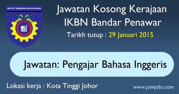 Jawatan Kosong IKBN Bandar Penawar Johor 2015 Terkini