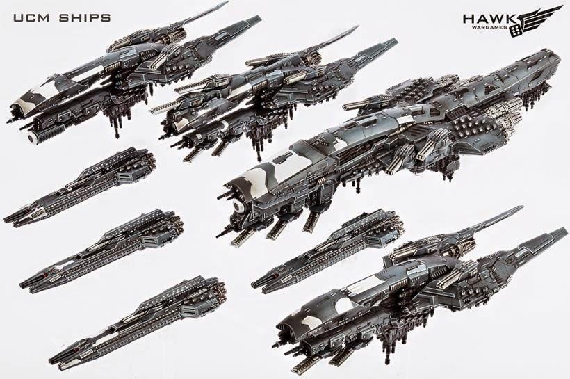 Hawk Wargames Dropfleet UCM Ships