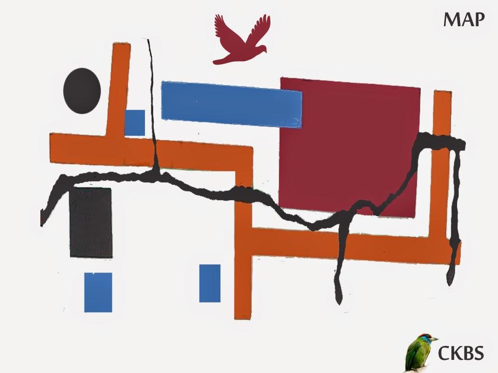 MAP of CKBS Chintamani Kar Bird Sanctuary