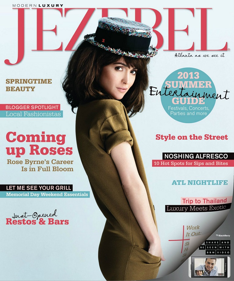 Rose Byrne for Jezebel Magazine Cover US : May 2013 |MagSpider