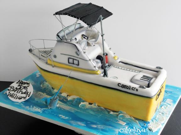 Boat Birthday Cake Images : cakelava: William s 50th Birthday Fishing Boat Cake