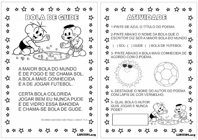 Sequência Didática Poema Bola de Gude Ricardo Azevedo