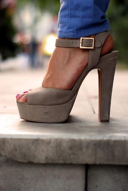 steve madden platform topuklu sandalet, bej sandalet,