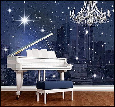 Celestial Moon Stars Astrology Galaxy on curtain designs for windows