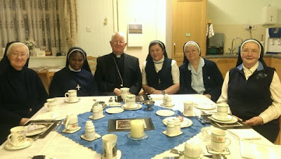 Bishop Campbell and some nuns