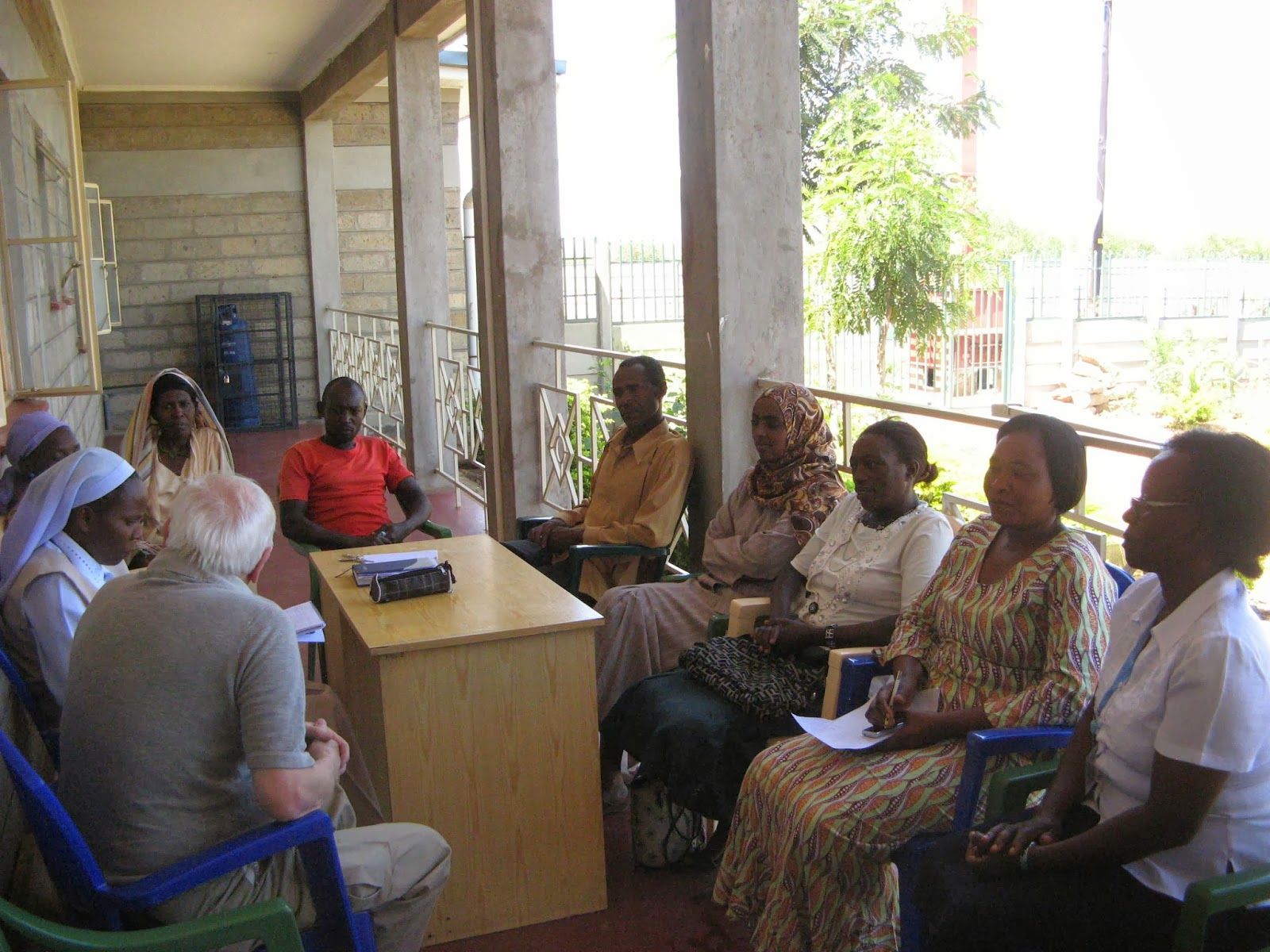 Meeting with community members
