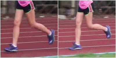 การลงเท้าขณะวิ่ง สวม Brooks Pure Cadence2