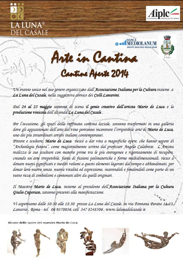 Locandina Arte in Cantina - Cantine Aperte 2014