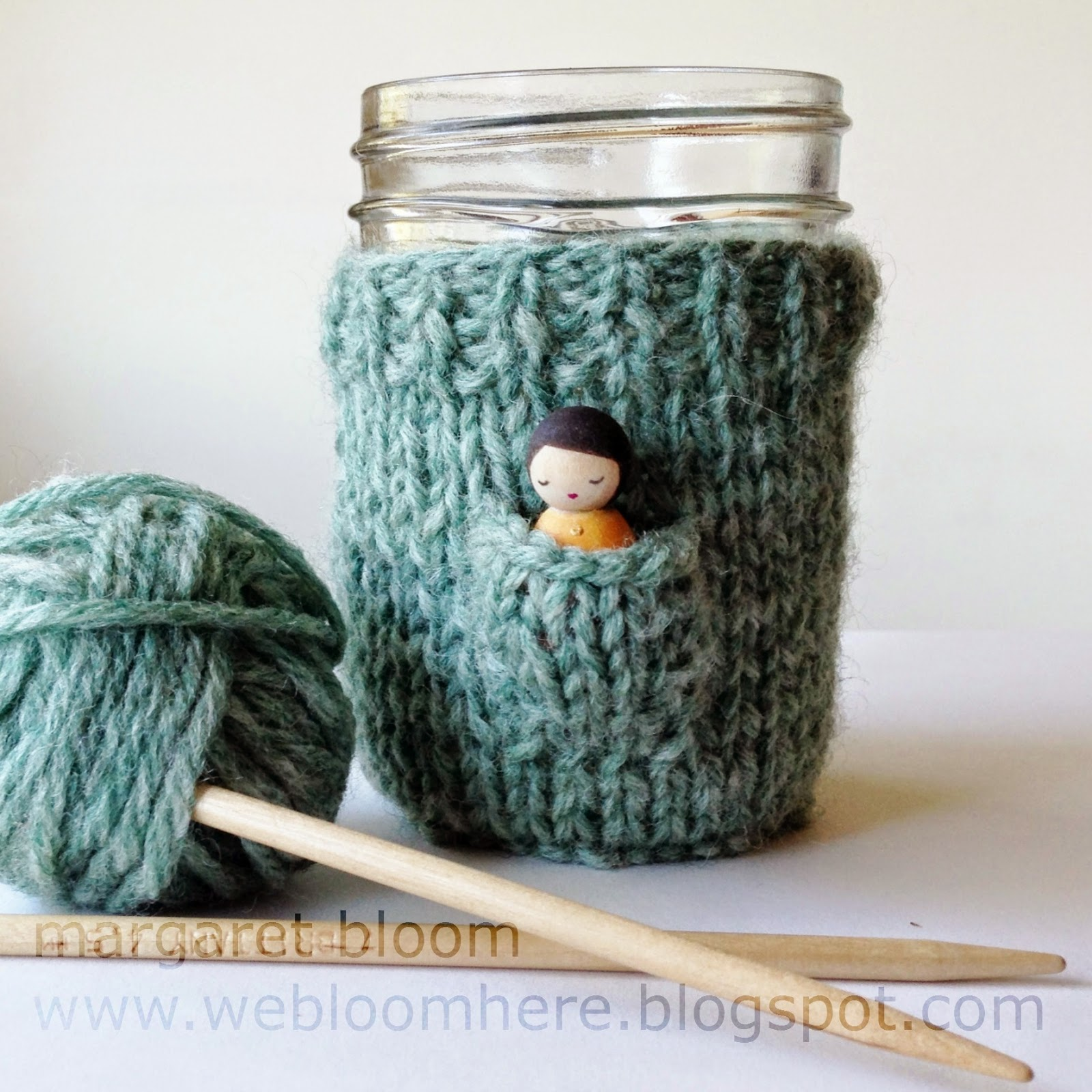 we bloom here: knitting a fairy cup cozy